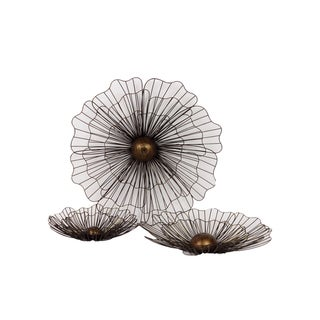 Urban Trends Collection Metal Flowers (Set of 3)