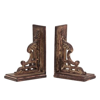 Urban Trends Collection 10-inch Wooden Bookend (Set of 2)