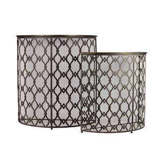 Urban Trends Collection Metal Half Table (Set of 2)