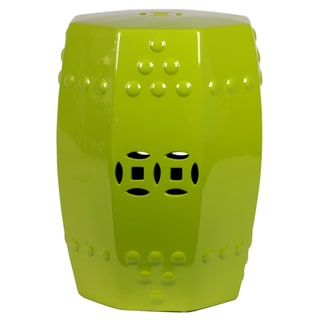 Urban Trends Collection 18-inch Green Ceramic Stool