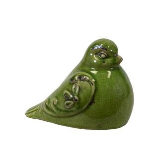 Urban Trends Collection Decorative Green Ceramic Bird