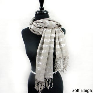 Silver Line Threading Fashion Scarf