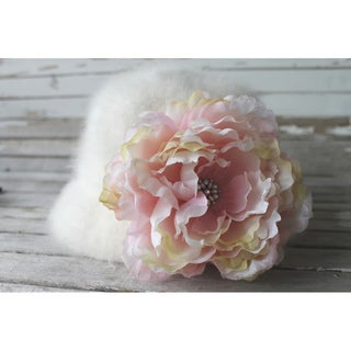 CarolineAlexander Large Pink Ruffled Flower Brooch/Pin