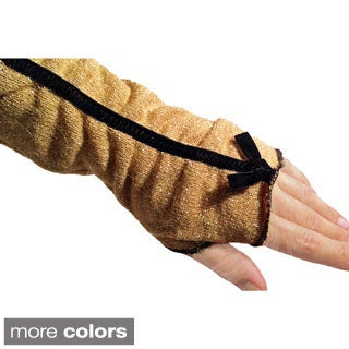 Metallic Knit Fingerless Glove