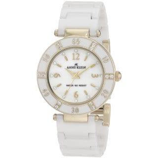 Anne Klein Women's Classic White Stainless-Steel Watch