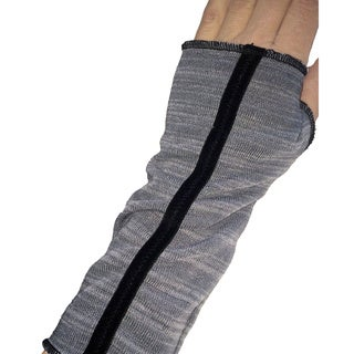 Grey Sripe Fingerless Glove