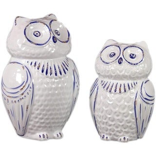 Urban Trends Collection Ceramic Owl (Set of 2)
