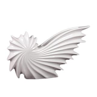 Ceramic Nautilus White Seashell