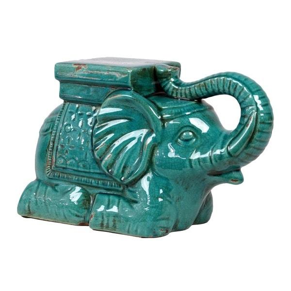 Ceramic Antique Blue Elephant