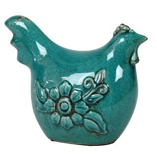 Ceramic Antique Blue Rooster