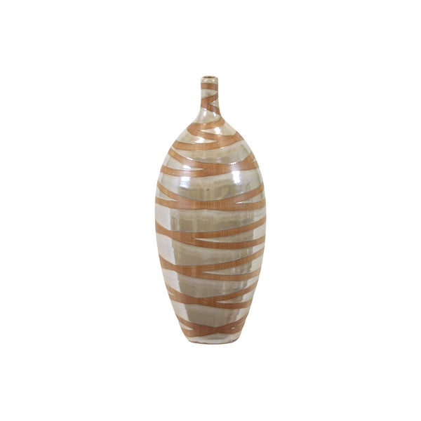 Urban Trends Collection Large Pearl Ceramic Vase