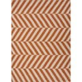 Handmade Flat Weave Stripe Red/ Orange Wool Rug (3'6 x 5'6)