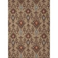 Handmade Flat Weave Tribal Beige/ Brown Wool Rug (2' x 3')