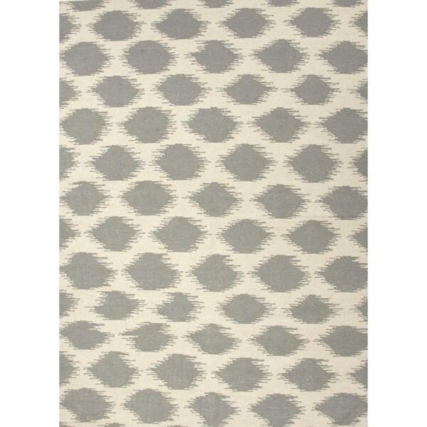 Handmade Flat Weave Tribal Gray/ Black Wool Rug (8' x 10')