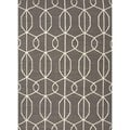 Handmade Flat Weave Geometric Gray/ Black Wool Rug (2' x 3')