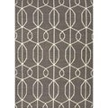 Handmade Flat Weave Geometric Gray/ Black Wool Rug (8' x 10')