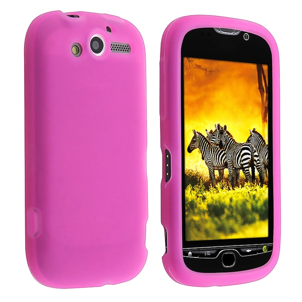 INSTEN Hot Pink Soft Silicone Skin Phone Case Cover for HTC T-Mobile MyTouch 4G