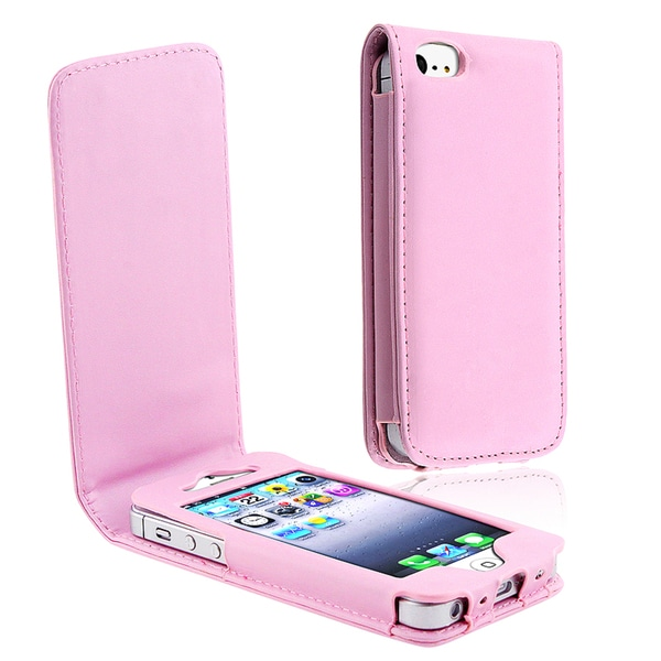 BasAcc Light Pink Leather Case for Apple® iPhone 5