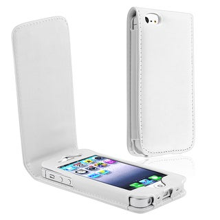 BasAcc White Leather Case for Apple� iPhone 5/ 5S