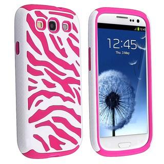 BasAcc Pink/ White Zebra Hybrid Case for Samsung� Galaxy S III/ S3