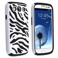 BasAcc Black/ White Zebra Hybrid Case for Samsung Galaxy S III/ S3