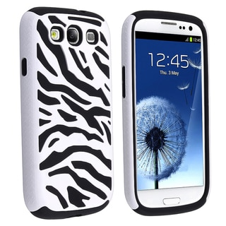 BasAcc Black/ White Zebra Hybrid Case for Samsung� Galaxy S III/ S3