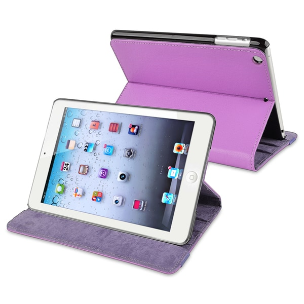 BasAcc Purple Leather Case for Apple® iPad Mini