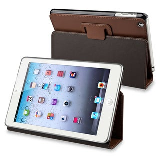 BasAcc Brown Leather Case with Stand for Apple� iPad Mini