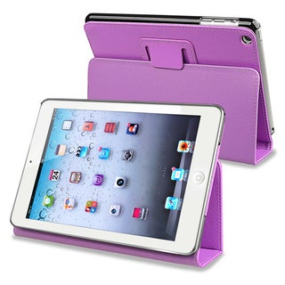 BasAcc Purple Leather Case with Stand for Apple� iPad Mini
