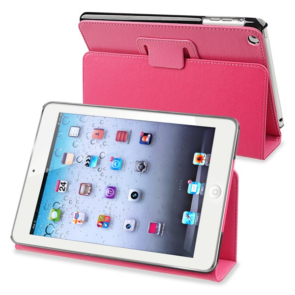 BasAcc Hot Pink Leather Case with Stand for Apple® iPad Mini