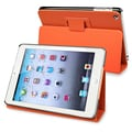 BasAcc Orange Leather Case with Stand for Apple iPad Mini