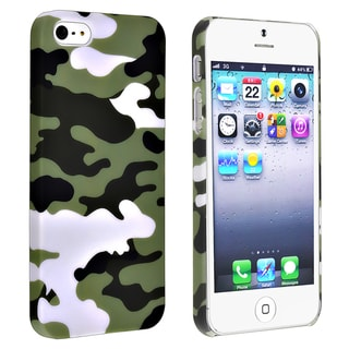 BasAcc Glaucum Camouflage Rubber Coated Case for Apple� iPhone 5