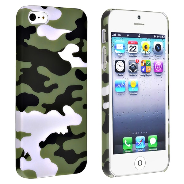 BasAcc Glaucum Camouflage Rubber Coated Case for Apple® iPhone 5