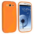 BasAcc Orange TPU Rubber Skin Case for Samsung Galaxy S III/ S3