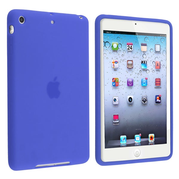 INSTEN Dark Blue Soft Silicone Skin Tablet Case Cover for Apple iPad Mini 1/ 2 Retina Display