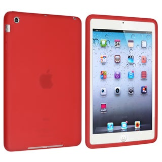BasAcc Red Silicone Skin Case for Apple iPad Mini 1/ 2 Retina Display