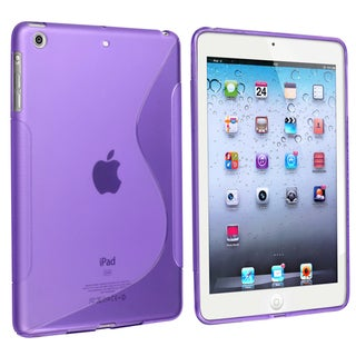 BasAcc Purple S Shape TPU Rubber Skin Case for Apple� iPad Mini