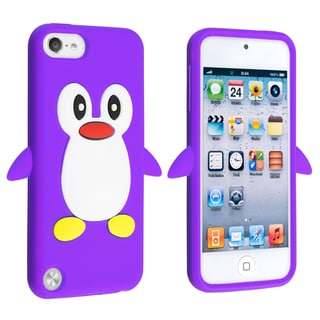 BasAcc Purple Penguin Silicone Case for Apple� iPod touch Generation 5