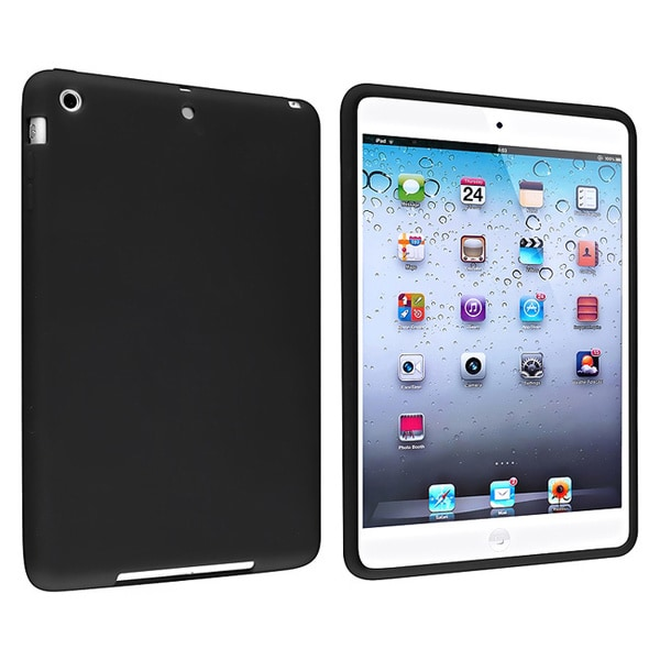 INSTEN Black Soft Silicone Skin Tablet Case Cover for Apple iPad Mini 1/ 2 Retina Display