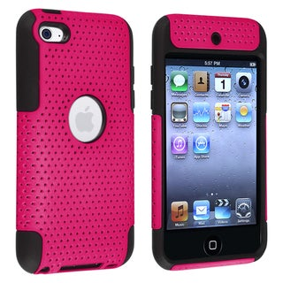 BasAcc Black/ Pink Hybrid Case for Apple� iPod Touch Generation 4