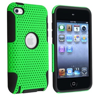 BasAcc Black/ Green Hybrid Case for Apple� iPod Touch Generation 4