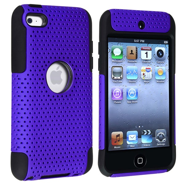 BasAcc Black/ Blue Hybrid Case for Apple® iPod Touch Generation 4