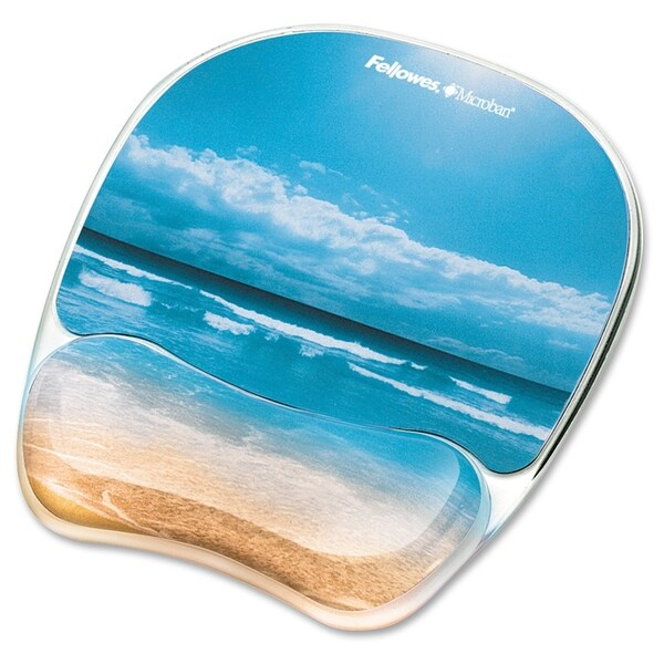 Fellowes Photo Gel Mouse Pad Wrist Rest with Microban Protection