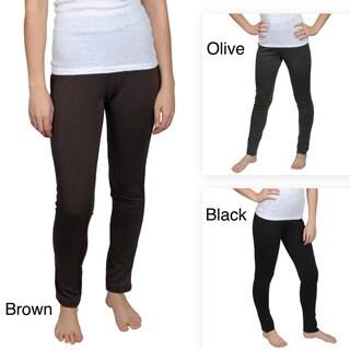 Allison Brittney Brand Juniors Banded Stretch Leggings