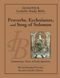 Ignatius Catholic Study Bible: Proverbs, Ecclesiastes, and Song of Solomon: Second Catholic Edition (Paperback)