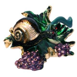 Cristiani Snail Embellished Trinket Box