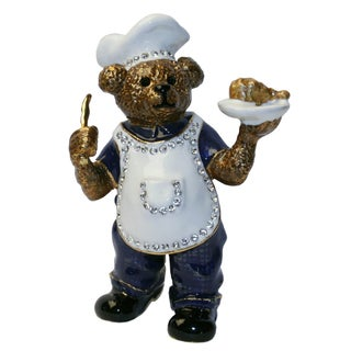 Cristiani Bear Chef Trinket Box