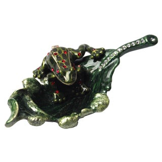 Cristiani Frog on a Leaf Trinket Box