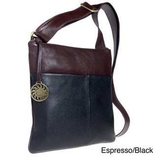 Alla Leather Art Time Square Crossbody Bag