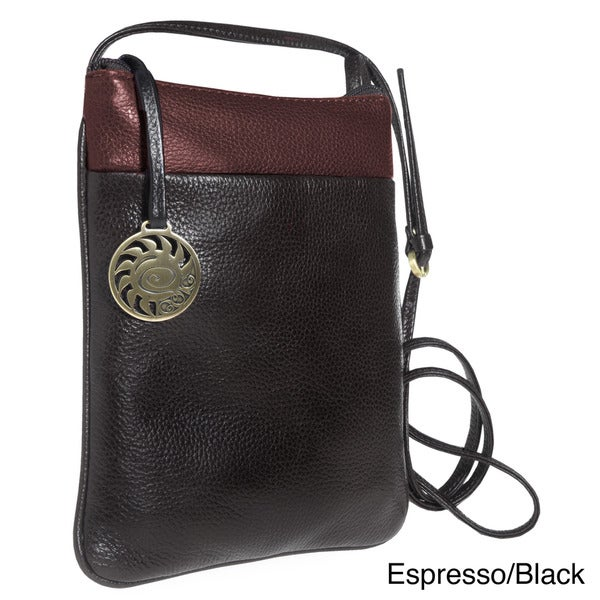 Alla Leather Art Crossbody Bag